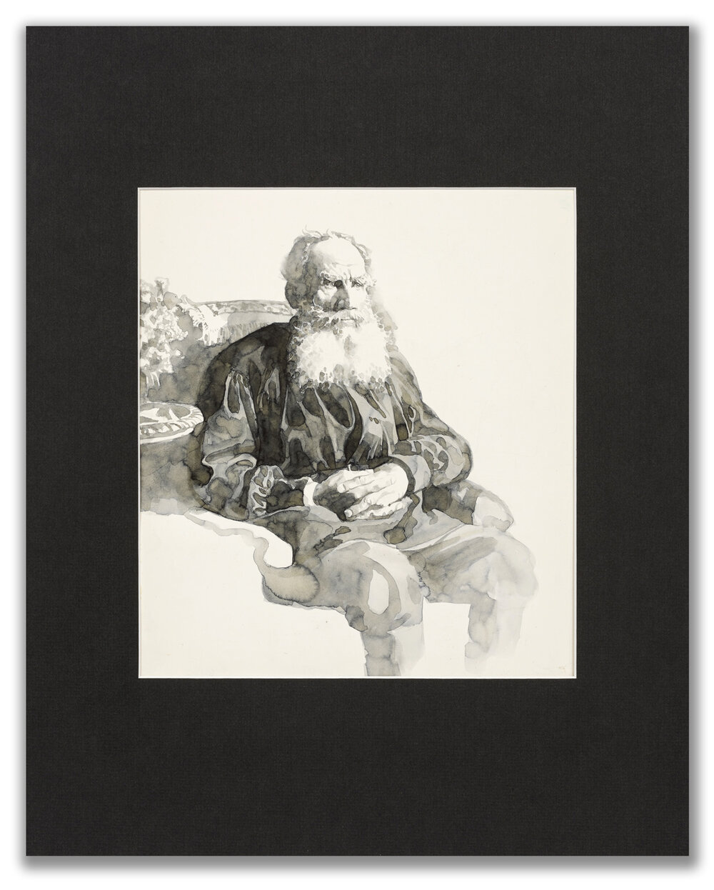 Michael Leonard, (British b.1933), A Good Age; Tolstoy, 1977.
