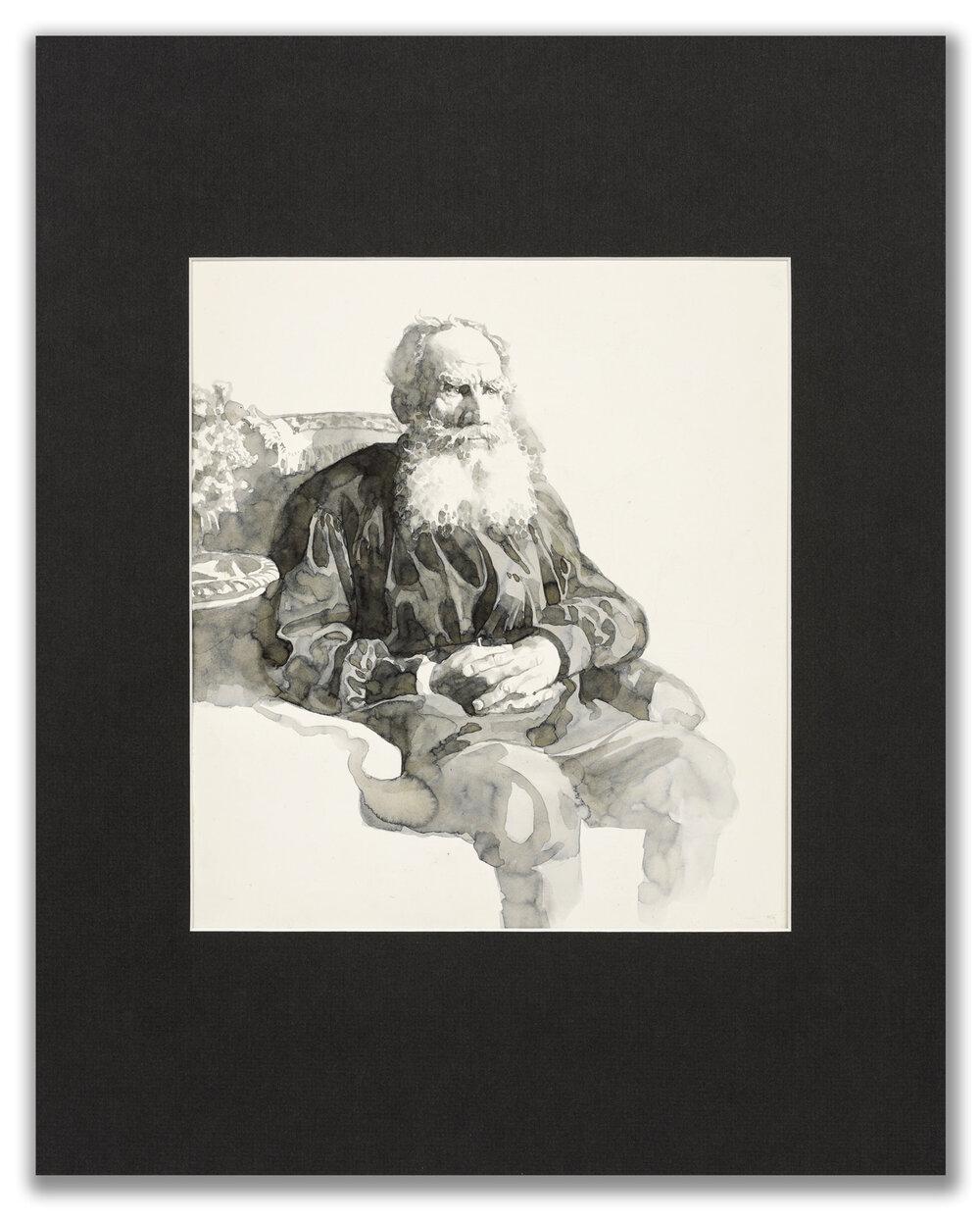 Michael Leonard, (British b.1933), A Good Age; Tolstoy, 1977.