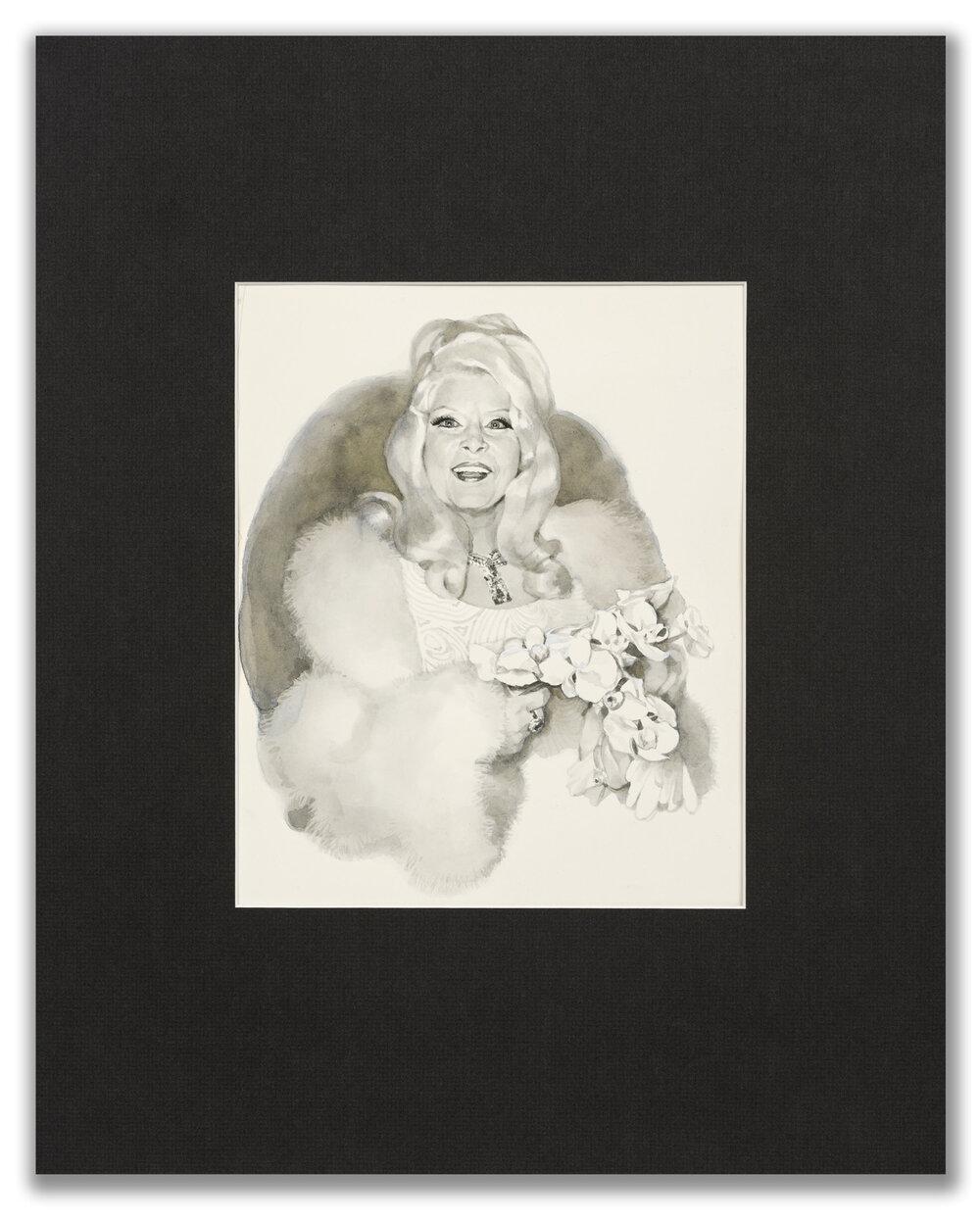 Michael Leonard, (British b.1933), A Good Age; Mae West, 1977.