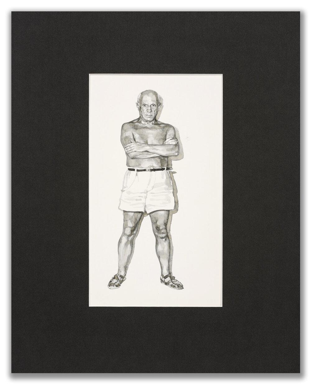 Michael Leonard, (British b.1933), A Good Age; Picasso, 1977.