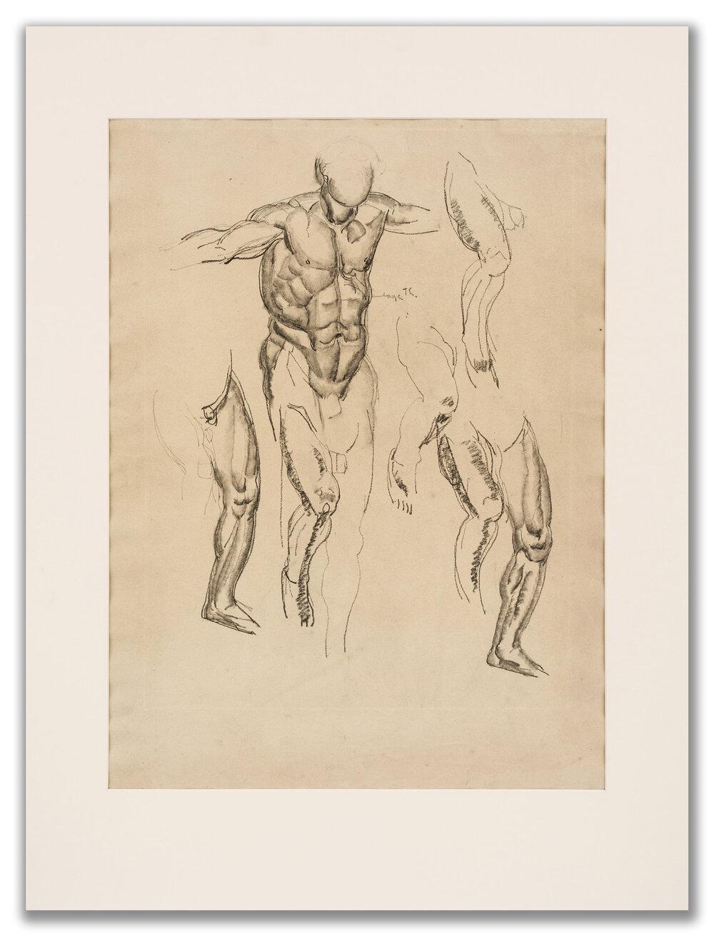 Marcel-Lenoir, (French 1872-1931), Academic Study, c.1920.