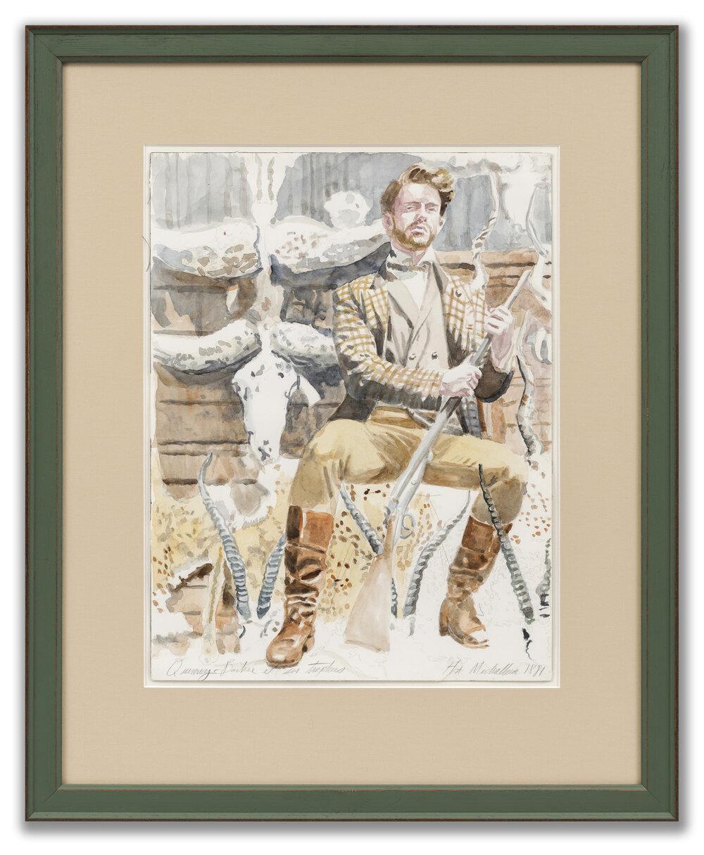 Hippolyte-Alexandre Michallon (1849-1930) aka Mark Beard (American b.1956), Quincy Barker et ses Trophées.