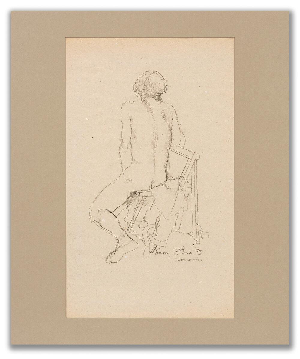 Michael Leonard, (British b.1933), Sitting turning away, 1973.