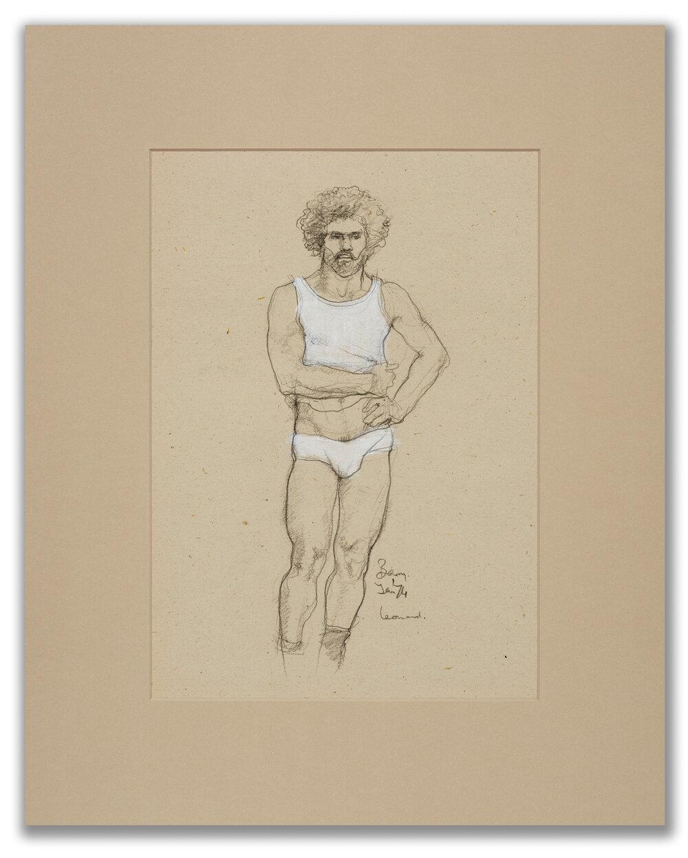 Michael Leonard, (British b.1933), White vest and pants, 1974.