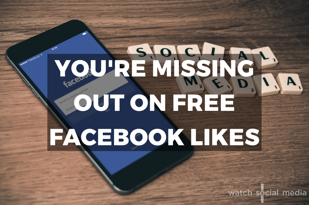 You're Missing Out on Free Facebook Likes — WSM