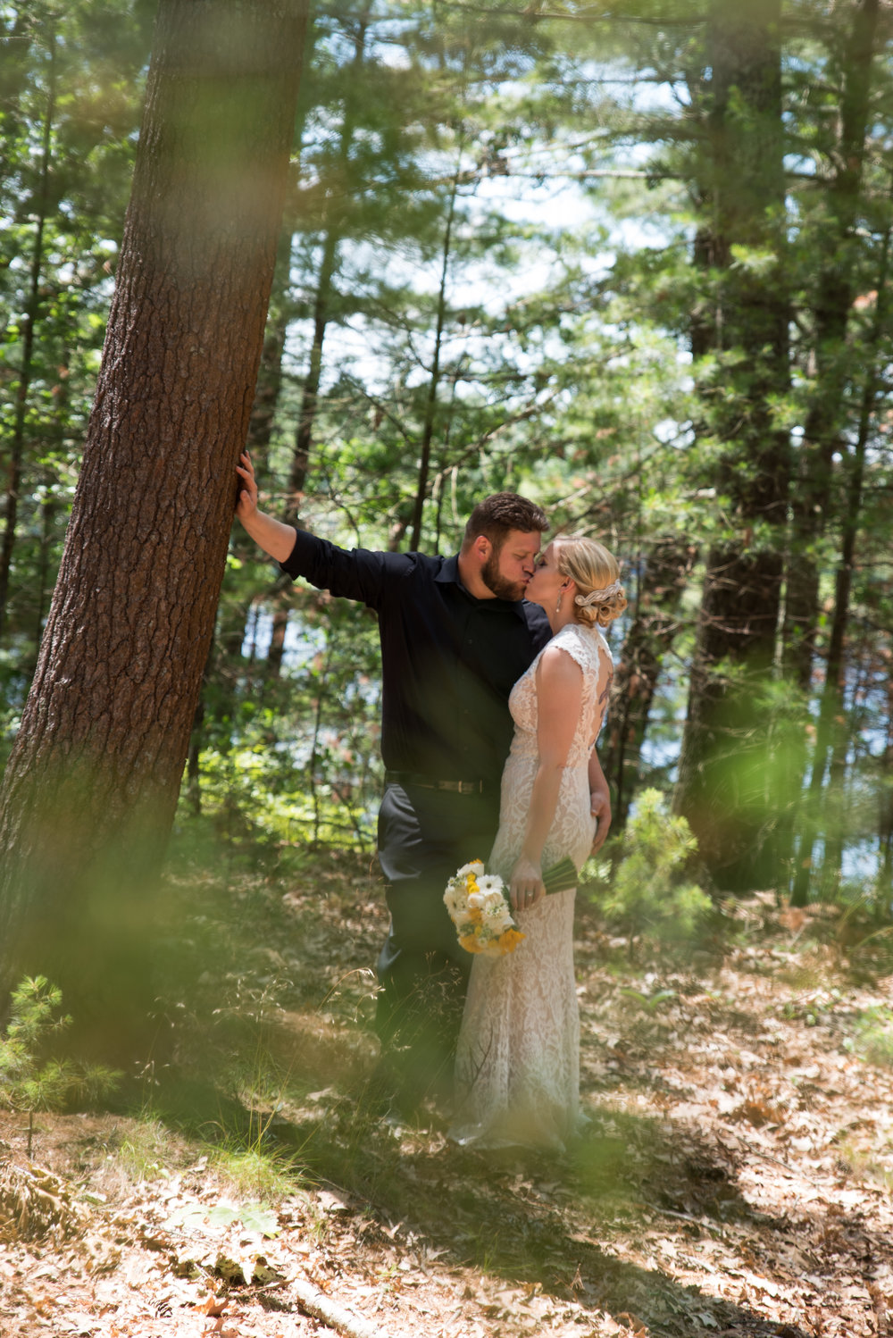 Lisa and Nate, weddings, Fall, Autumn, marriage, nature, October, Brian, Latham, wedding photography, rustic, woodsy, woods, DIY, Connecticut, Massachusetts, lake, sunflower, pond, yellow, simple, gorgeous, blue, ceremony, sunshine