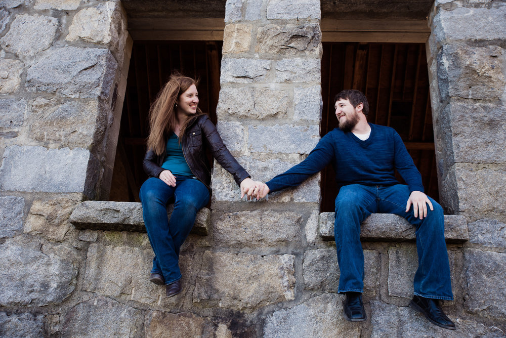 Old Stone Church outdoor engagement photos in West Boylston, MA photographer Kara Emily Krantz Photography