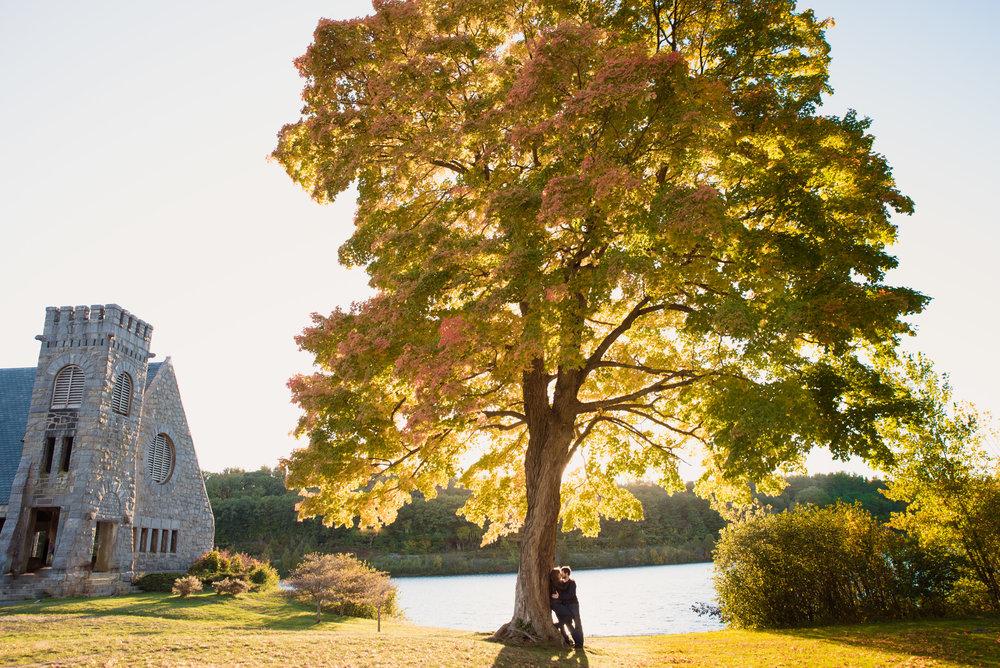 Old Stone Church outdoor engagement photos in West Boylston, MA photographer Kara Emily Krantz Photography