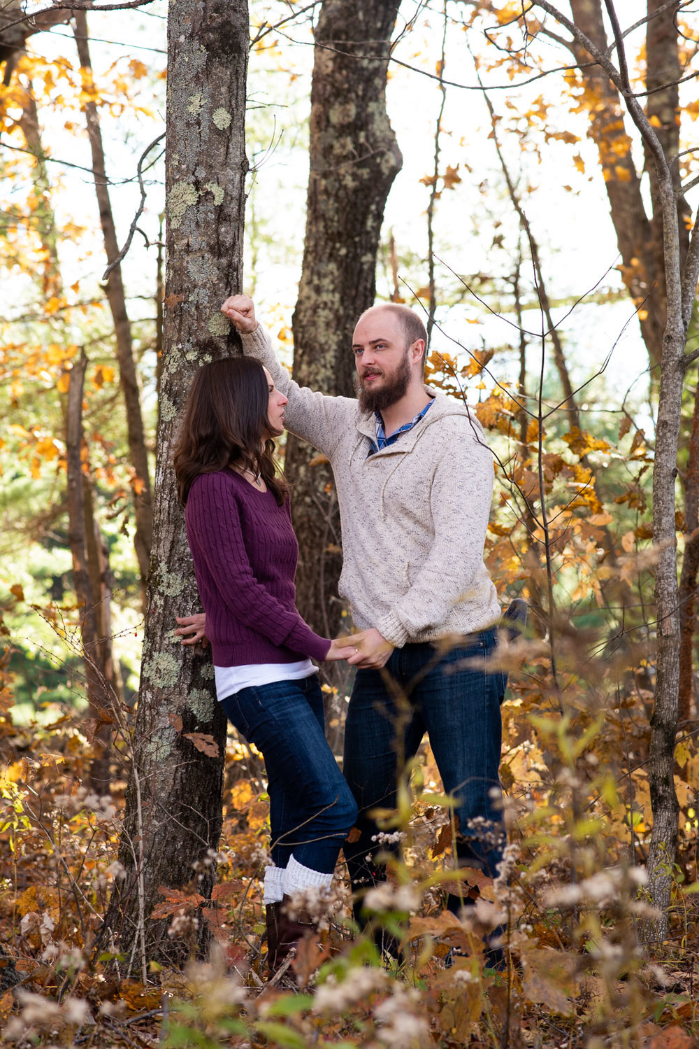 Moore State Park engagement photos in Paxton, MA photographed by Kara Emiy Krantz Photography