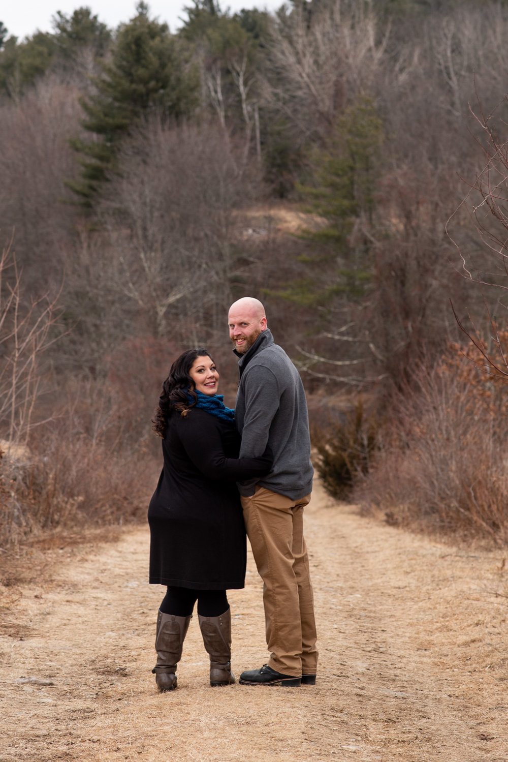 Moore State Park engagement photos in Paxton, MA photographed by Kara Emily Krantz Photography