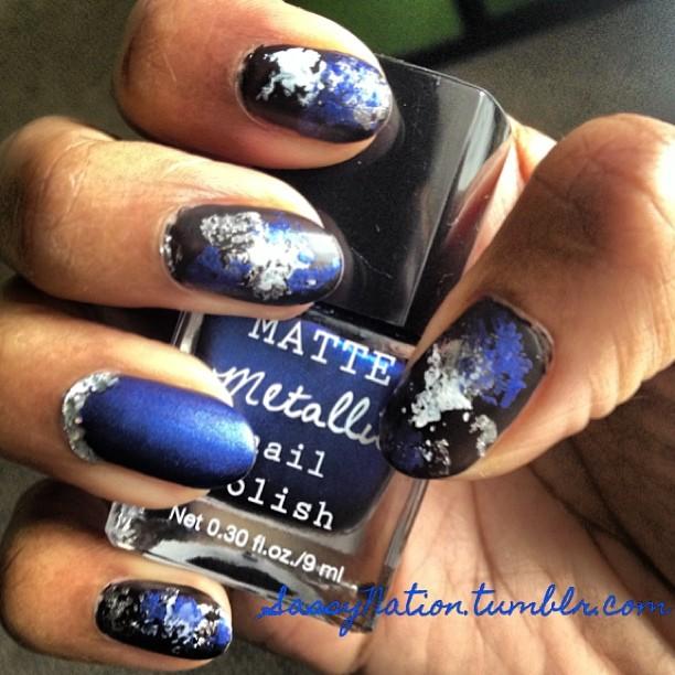 Bella Sassy Nails    Intergalactic Grunge #nails #nailart #polish #metallic #matte #beauty #manicure #nailpolish #nailswag #instabeauty #TheSassyNation