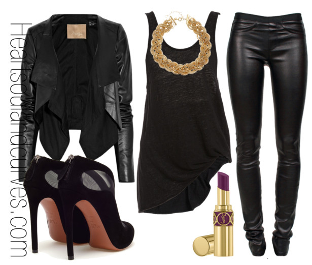 Sassy Style via heartsoulandcurves: All Black Everything… If I was your stylist