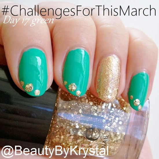 Bella Sassy Nails St. Patty's mani by @BeautyByKrystal