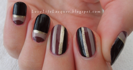 Bella Sassy Nails    via  lovelifelacquer :     The New Black - nails! Read more  here