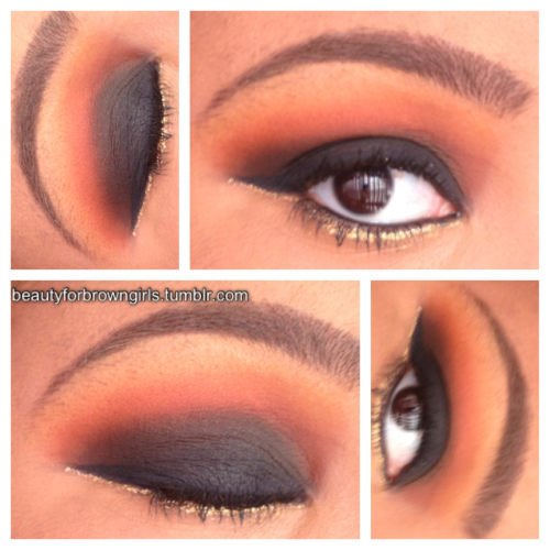Bella Sassy Tangerine at Night via BeautyforBrownGirls