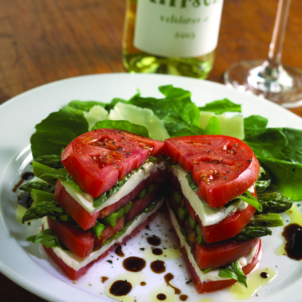 Sassy    Appétit     Is that asparagus that we spy? Deliciousness for dinner or lunch tomorrow!      foodographies :   Insalata Capresse.  Recipe!!       Serving up the sass daily, join Sassy Nation!     Tumblr      FB TheSassyNation     @SassyNation     Pinterest