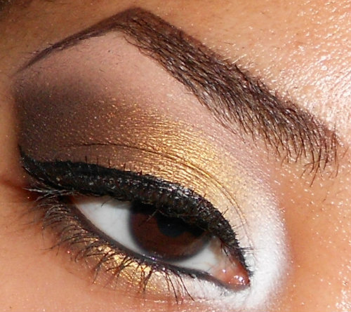 Bella Sassy    Want the look? Try this golden tutorial brought to you by:    beautyforbrowngirls :     White, Gold and Brown Eyeshadow Tutorial (click pic for tutorial)    http://www.youtube.com/user/makemeupbywhitney     http://makemeupbywhitney.tumblr.com/       Stay fab, join Sassy Nation:     Tumblr      FB TheSassyNation     @SassyNation     Pinterest