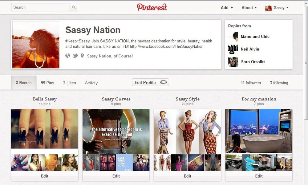 Sassy Nation + Pinterest = More sass for that a**!    #KeepItSassy,  Pin it!