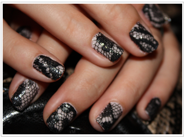 Bella Sassy    This mani may take some time, but it sure looks worth the effort. Bellissima!    via sweetteeblog :      Lace Manicure DIY       Keep it sassy, join Sassy Nation     http://sassynation.tumblr.com     http://www.facebook.com/TheSassyNation     http://twitter.com/#!/SassyNation