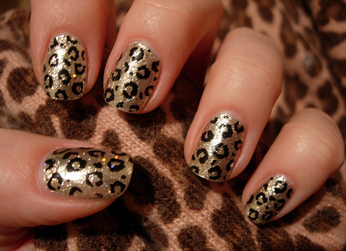 Bella Sassy    A fierce leopard mani with a dash of sass, sparkle and shine.         Keep it sassy, join Sassy Nation     http://sassynation.tumblr.com     http://www.facebook.com/TheSassyNation     http://twitter.com/#!/SassyNation