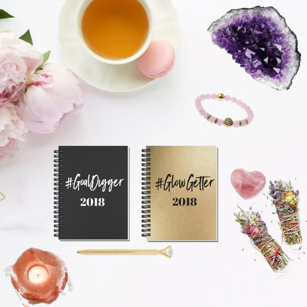 Glow Getter + Goal Digger 2018 Blank Journal