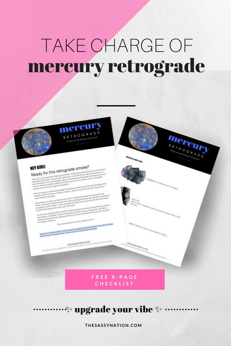 Mercury Retrograde Upgrade  |  Free 8-Page Checklist