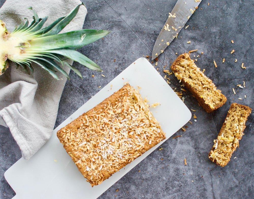 Coconut Pineapple Bread for PaleoHacks -