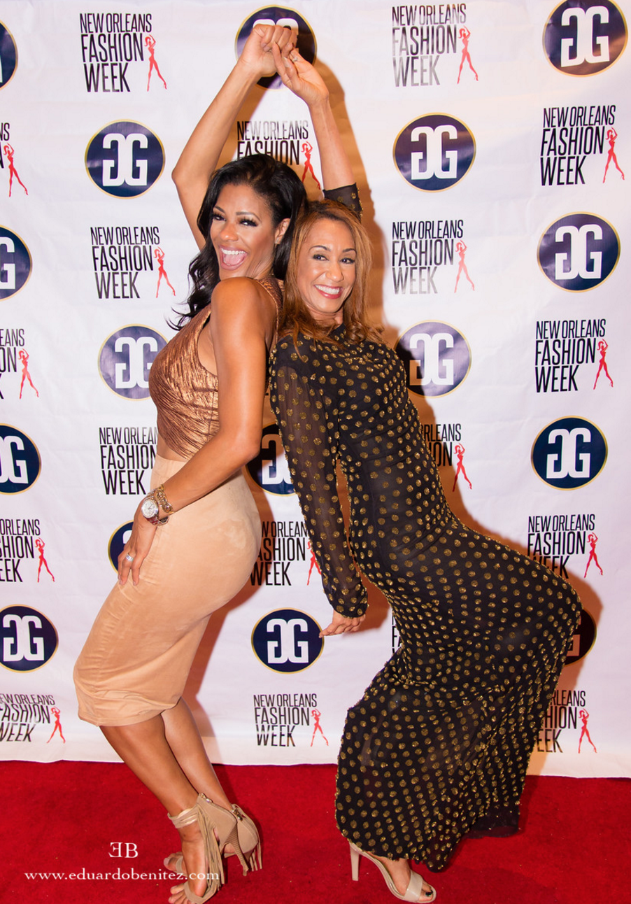 Tamika Lee and Tracee on the red carpet/ photographer: eduardo benitez
