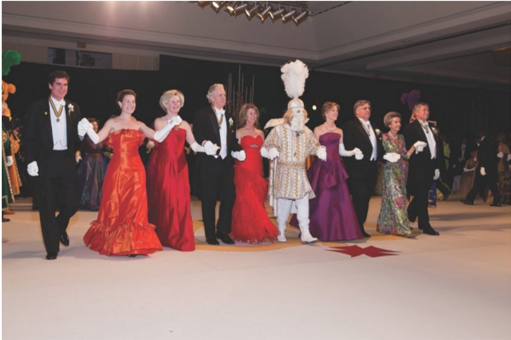 More of the Rex Court, with examples of Gowns and gloves that the women wear.    https://www.rexorganization.com/Ball