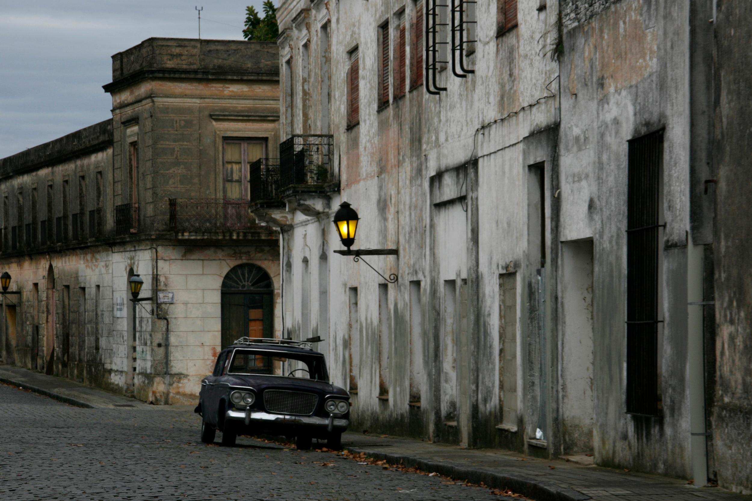 Deserted car in Colonia, Uruguay
