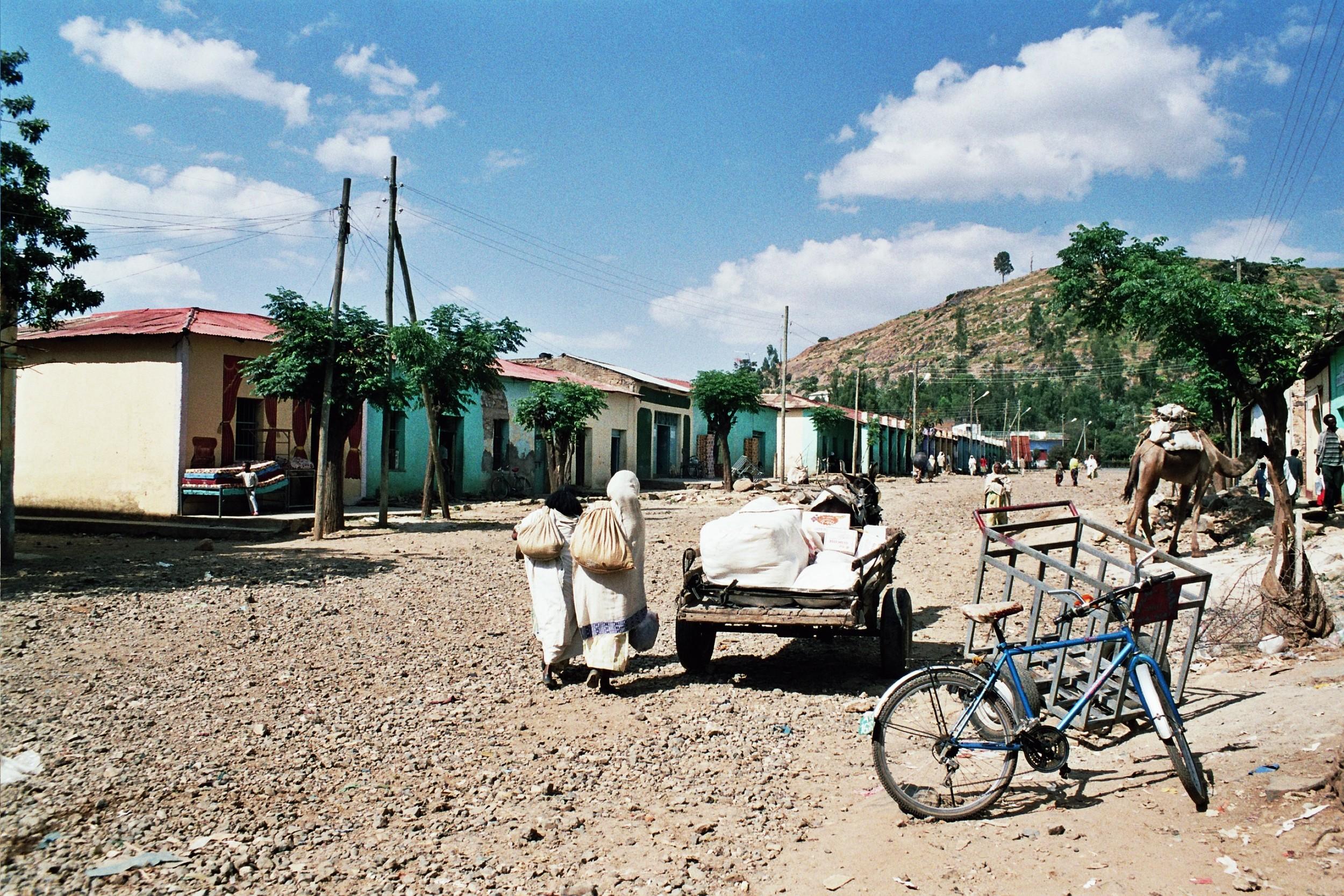 A street in Axum, Ethiopia