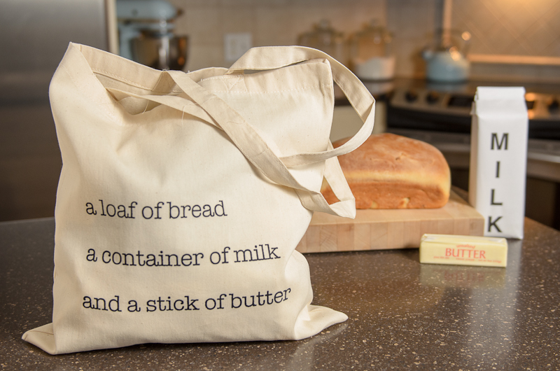 Bread Milk Butter Tote Bag