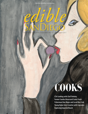 We get mentioned in Edible San Diego, July-Aug. 2017 - Chef Coral Strong's Comfort Cooking