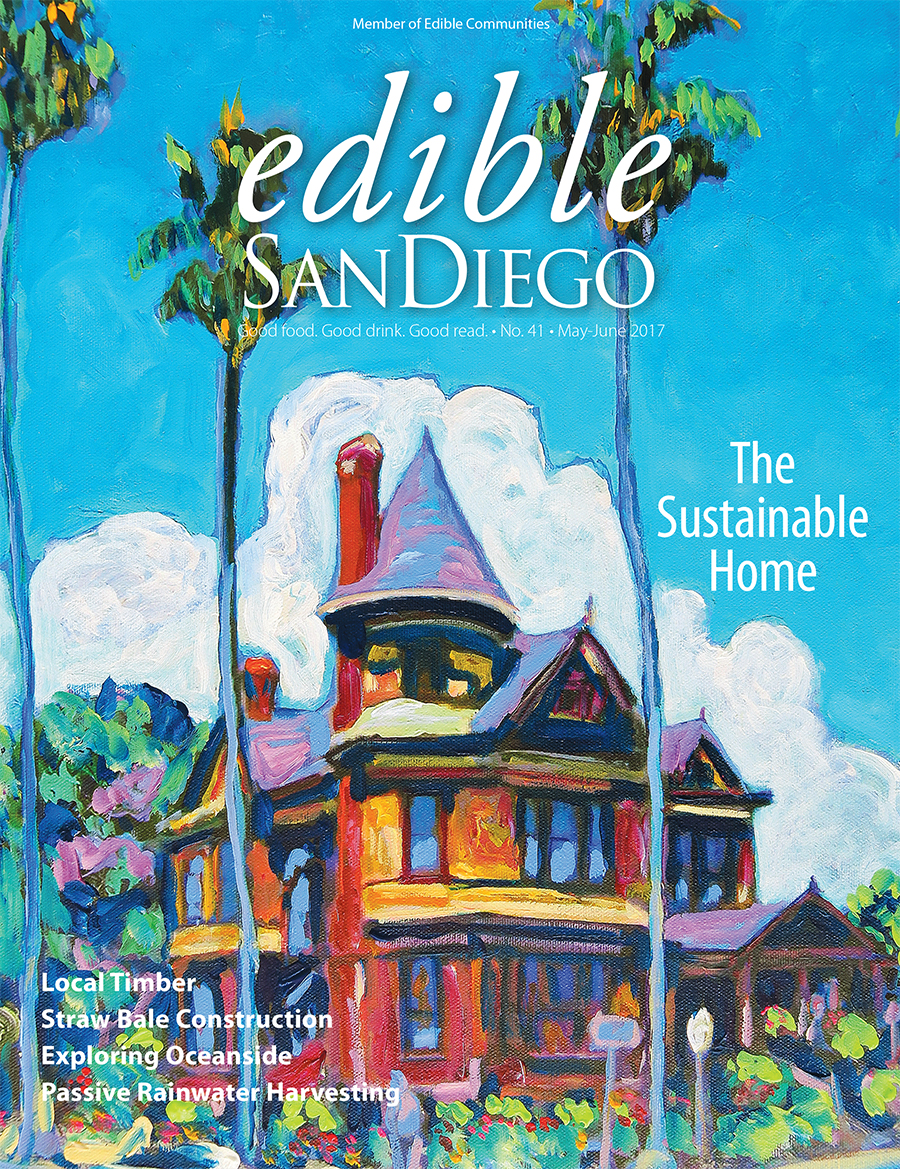 We get mentioned in Edible San Diego, May-June 2017 - Local Talent: Turning the Tide in Oceanside