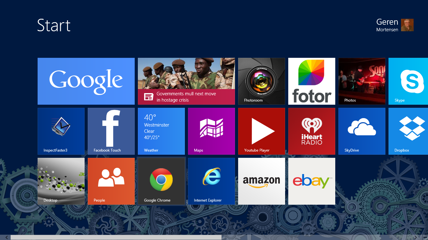 Windows8 Metro User Interface