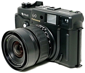 Fujifilm GSW-690iii medium format rangefinder camera with 90mm lens