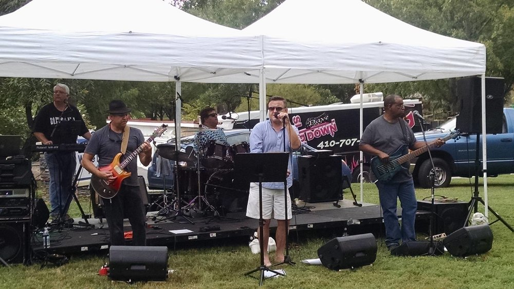 Any The Wiser, sorta on stage at the 4th Annual Wilde Lake Family Picnic, September 17, 2016, at Wilde Lake Park in Columbia, MD. That's me on keyboards, mixing from the stage. Follow Any The Wiser on Facebook. -- Jeremy Crites photo