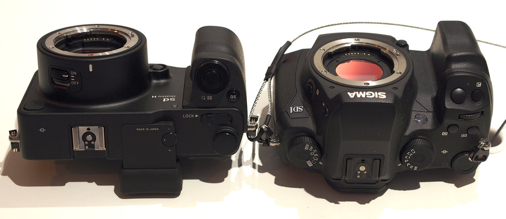 Sigma sd Quattro mirrorless body compared with their SD1 DLSR. photo courtesy ephotozine.com