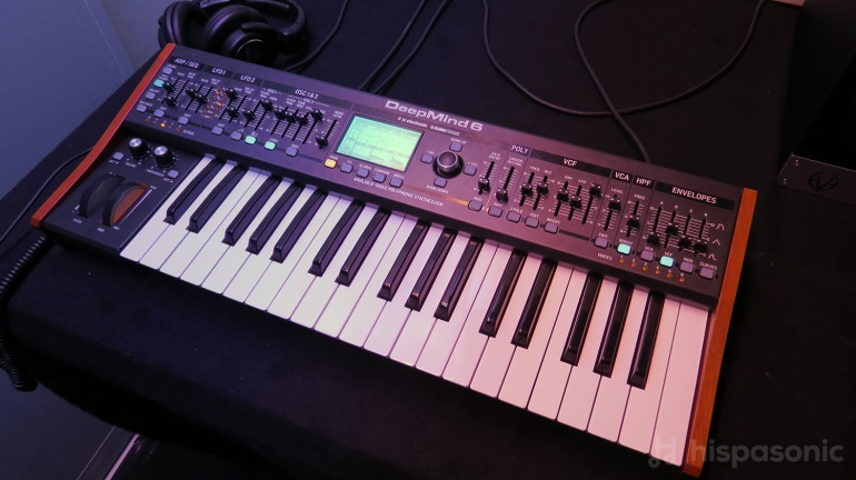 Behringer Deepmind 6 six-voice analog synth.