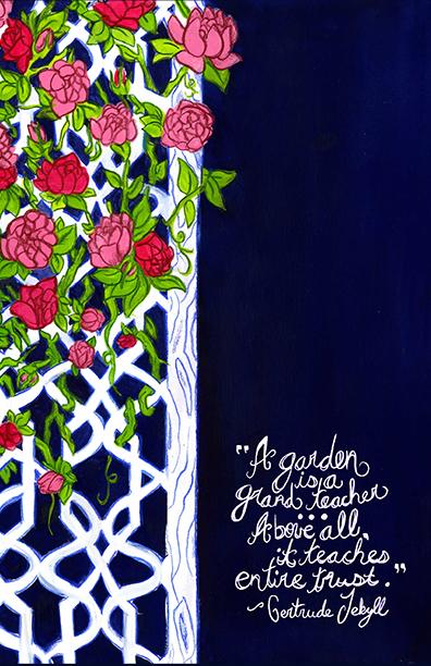 Journal Cover in Jekyll Rose
