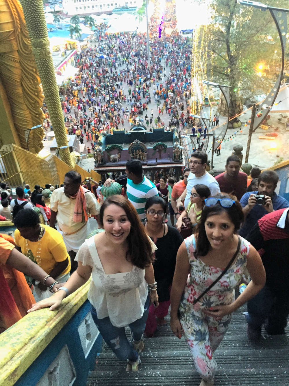 Farena & I making our way up to Batu Caves - only a hundred steps or more to go ;)