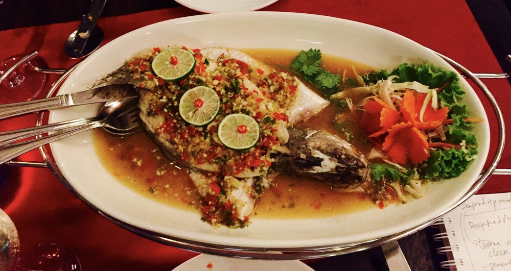 Steamed Seabass with Chili and Lime Juice