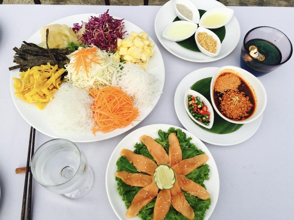 A delicious Thai Yee Sang Spread at Samira