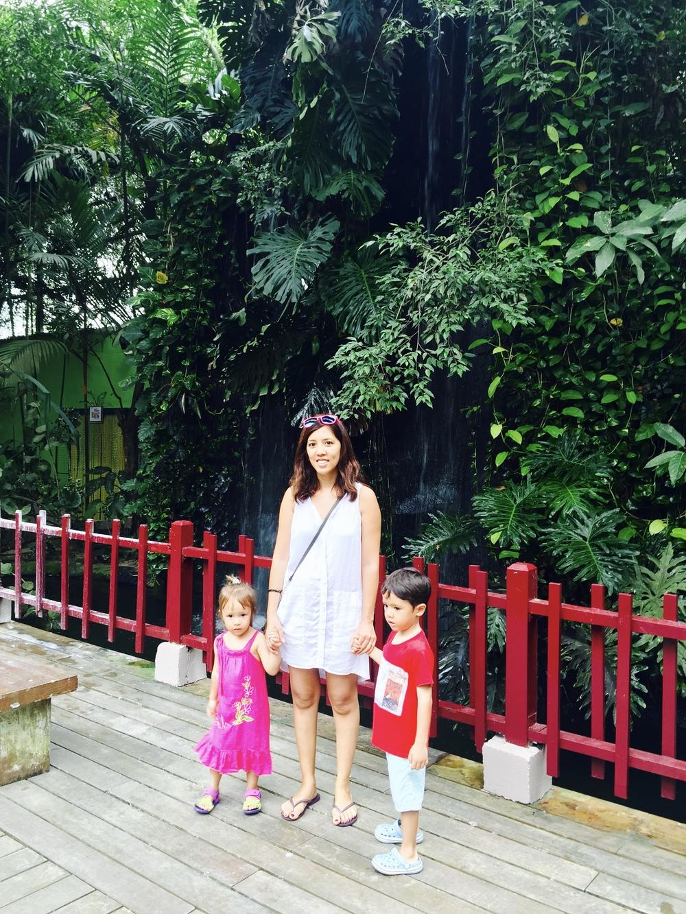 Batik&Bubbles_LGK bird park_waterfall