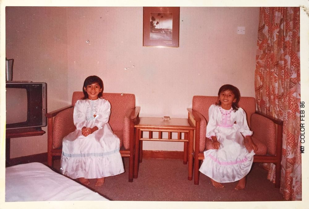 Natasha and Nelly as children - Picture courtesy of Natasha Navin.