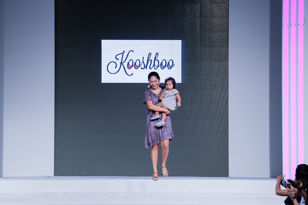 Natasha at her debut collection for Kooshboo, Malaysian Fashion Week, in 2015