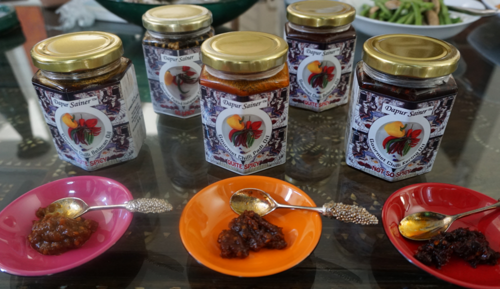 Dapur Sainer's complete range of gourmet chili oils and pickles