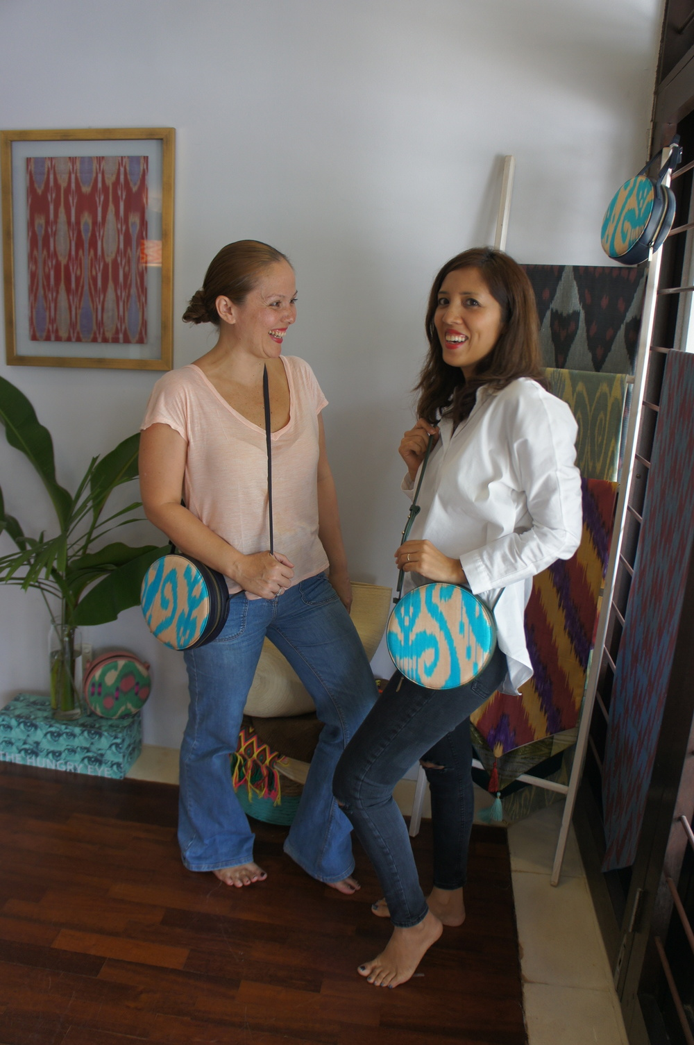 Franki and I posing with her personal favourite piece - the Tiyya bag selling at RM 375