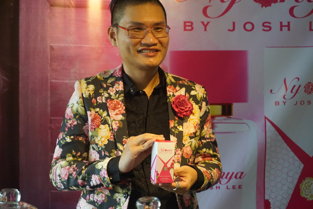 Josh and his latest fragrance, Nyonya