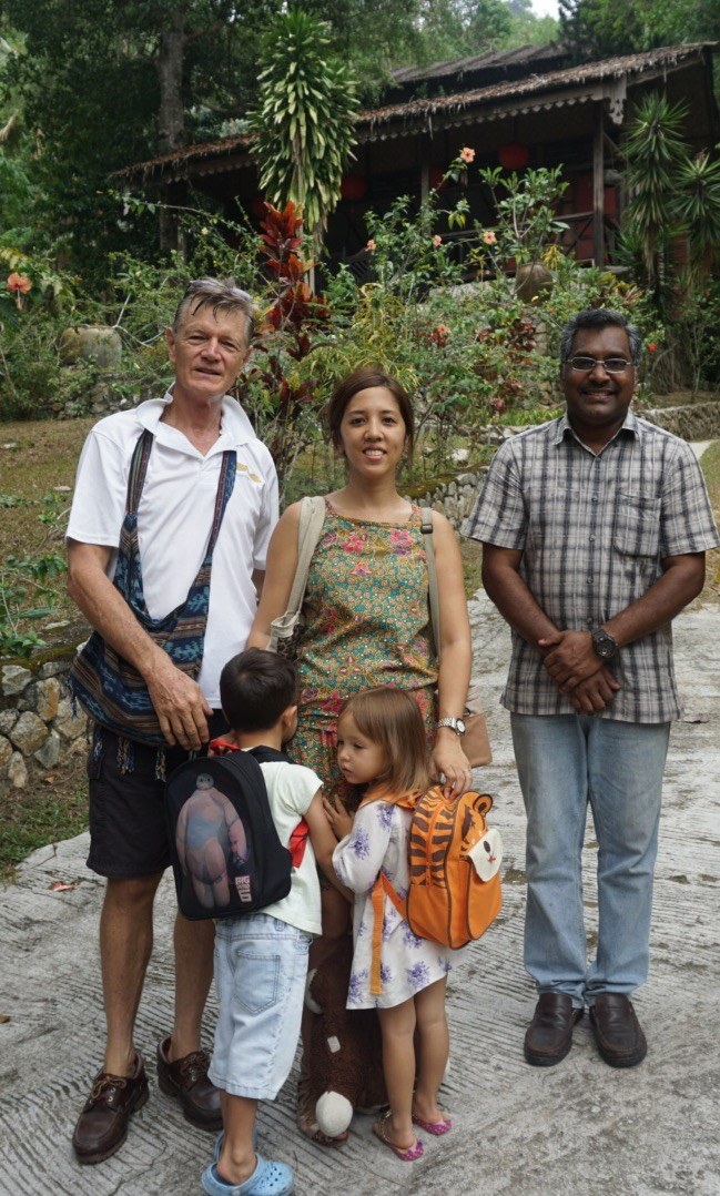 Our family with our personable host, Mohan
